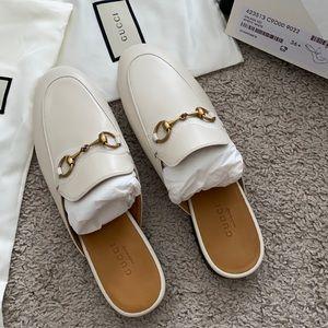 Gucci princetown mules white